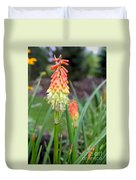 Torch Lily Flower Duvet Cover