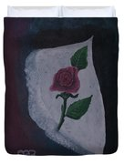 Torn Canvas Rose Duvet Cover