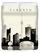 Toronto Black And White Duvet Cover