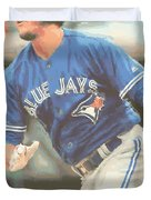 Toronto Blue Jays Troy Tulowitzki Duvet Cover