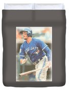 Toronto Blue Jays Troy Tulowitzki Duvet Cover