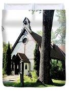 Toronto Island Chapel Duvet Cover