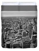 Toronto Ontario Scrapers In Black And White Duvet Cover