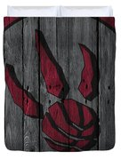 Toronto Raptors Wood Fence Duvet Cover
