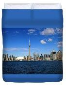 Toronto Skyline 26 Duvet Cover