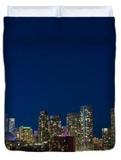 Toronto Skyline And World Pride Duvet Cover