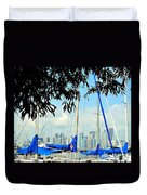 Toronto Through A Forest Of Masts Duvet Cover