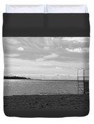 Toronto Winter Beach Duvet Cover