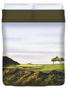 Torrey Pines South Golf Course Duvet Cover by Bill Holkham