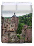 Torturm And Seltenleer Heidelberger Schloss Duvet Cover