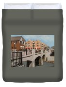 Tosa Village Bridge Duvet Cover