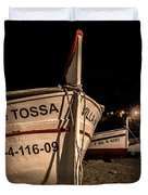 Tossa De Mar By Night Duvet Cover
