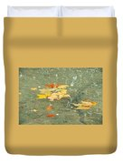 Tossed Leaves Duvet Cover by JAMART Photography