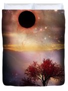 Total Eclipse Of The Sun Tree Art Duvet Cover