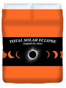 Total Solar Eclipse Stages Duvet Cover