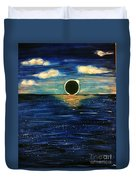 Totality On The Sea - Solar Eclipse  Duvet Cover
