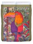 Toucan Batik Duvet Cover
