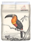 Toucan Bird Responsible Travel Art Duvet Cover