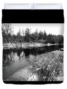 Touch Of Winter Black And White Duvet Cover