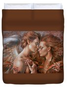 Touched By Angel Duvet Cover by Arthur Braginsky