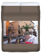 Touching Jesus Duvet Cover