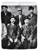 Tough Men Of The Old West Duvet Cover