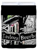 Toulouse And Bourbon Duvet Cover