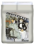 Toulouse-lautrec: Menu Duvet Cover