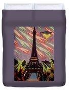 Tour Eiffel Et Ovni Duvet Cover
