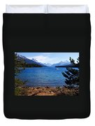 Touring Maligne Lake Duvet Cover