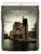 Tourist Office Norrkoping In Old Effect Duvet Cover