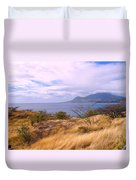 Towards Basseterre Duvet Cover