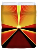 Towards The Streaking Sunrise Duvet Cover