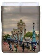 Towards Tower Bridge, London  Duvet Cover
