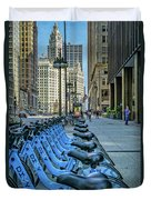 Towards Wrigley Building Duvet Cover