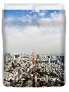 Tower And City View Duvet Cover by Bill Brennan - Printscapes
