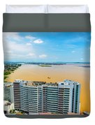 Tower And Guayas River Duvet Cover