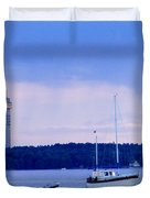 Tower And Masts Duvet Cover