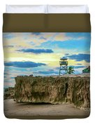 Tower And Rocks Duvet Cover