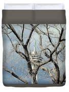 Tower And Trees Duvet Cover