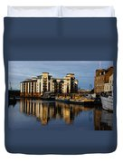 Tower Apartments In A Sunset Duvet Cover