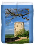 Tower At Chateau De Chinon Duvet Cover