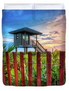Tower At The Dunes Duvet Cover