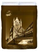 Tower Bridge In Sepia Duvet Cover