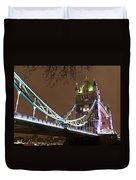 Tower Bridge Lights Duvet Cover