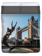 Tower Bridge, London, Uk Duvet Cover