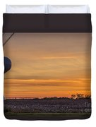 Tower By Sunset Duvet Cover