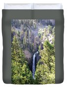 Tower Fall Yellowstone Duvet Cover
