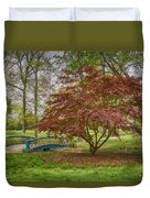Tower Grove Arched Bridge And Maple Tree Dsc01828 Duvet Cover