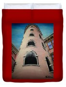 Tower In Lyon France Traboules Duvet Cover